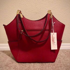 Kate + Alex Cuffaro Red Vegan Leather Handbag
